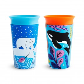 Munchkin Miracle Sippy Cup 12m+ Polar/Orca 266ml, 2τμχ