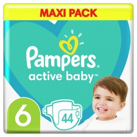 Pampers Active Baby Maxi Pack No.6 (13-18kg) 44 Πάνες