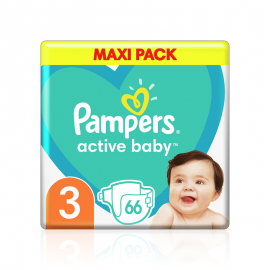 Pampers Active Baby Maxi Pack No.3 (6-10Kg) 66 Πάνες